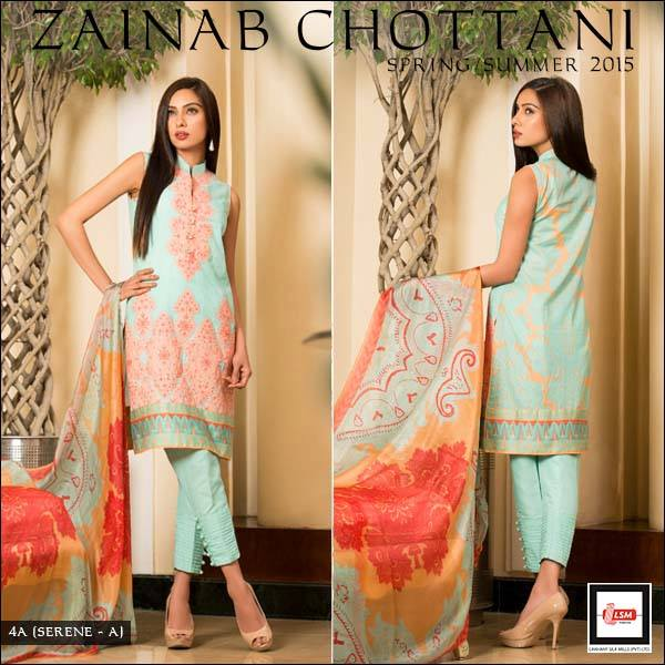 Zainab Chottani Latest Summer Spring Lawn Dresses Collection 2015 for Women (9)