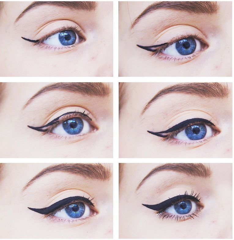 How to apply a perfect & flawless Eyeliner Step by Step Tutorial with Pictures (1)