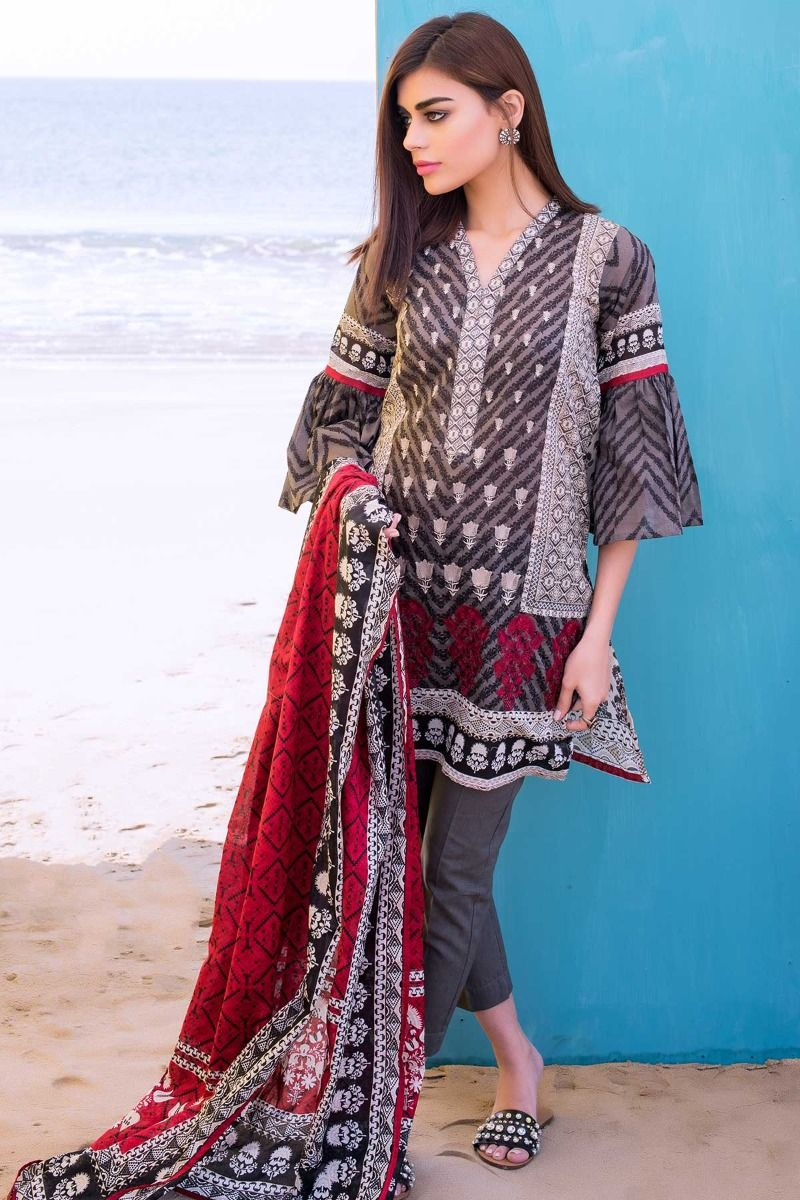 89accf5d24 ... Khaadi Summer Printed Embriodered Lawn Dresses Collection 2018-2019 for  Women (11) Khaadi Summer Printed Embriodered Lawn Dresses Collection 2018-2019  ...