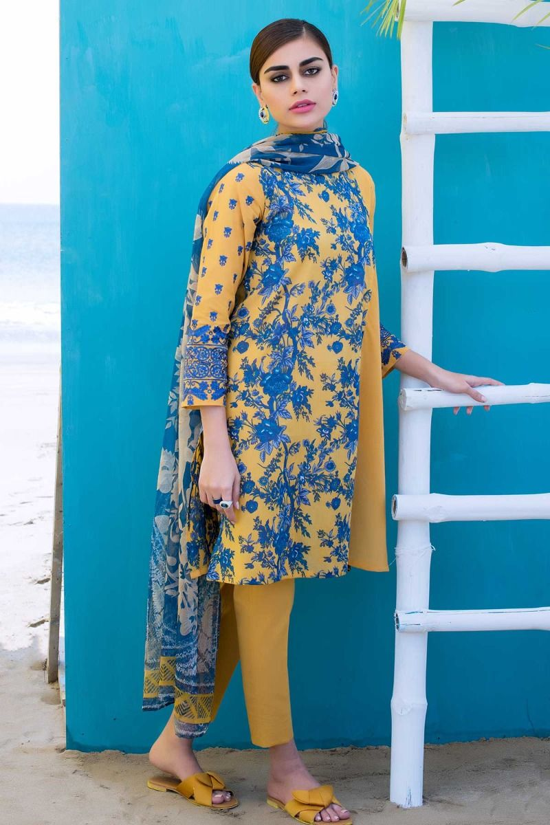Khaadi Summer Printed Embroidered Lawn Dresses Collection 2019