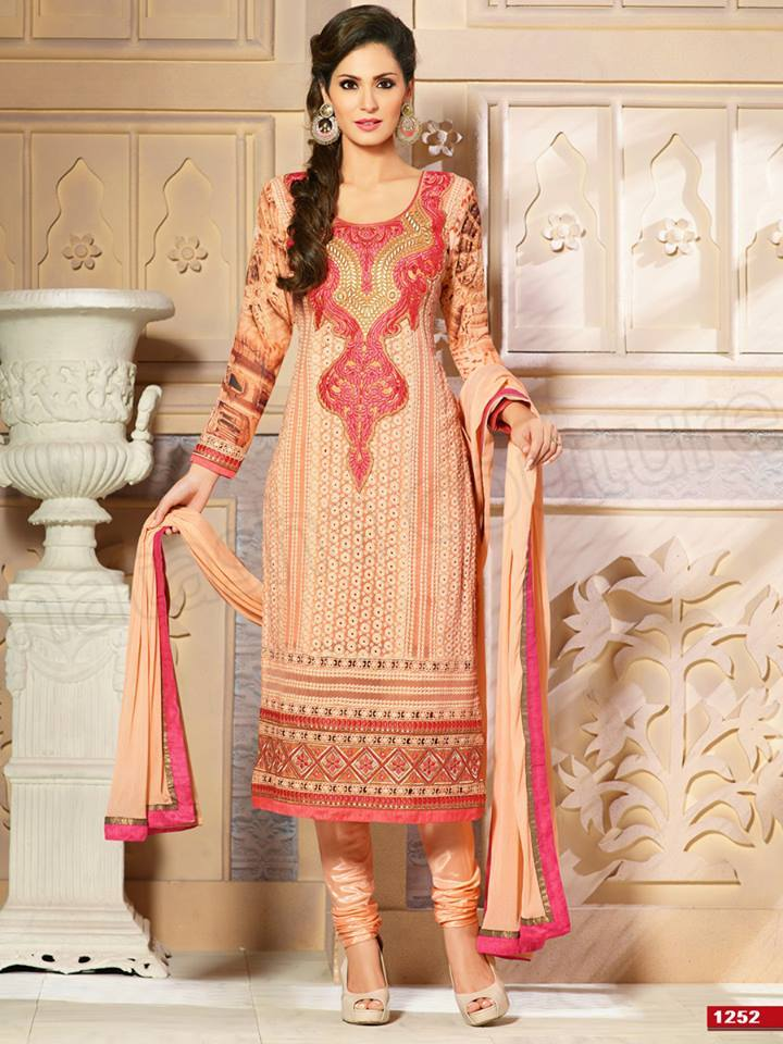 Pakistani & Indian Straight Cut Salwar Suits Designs Latest Collection 2015-2016 (19)