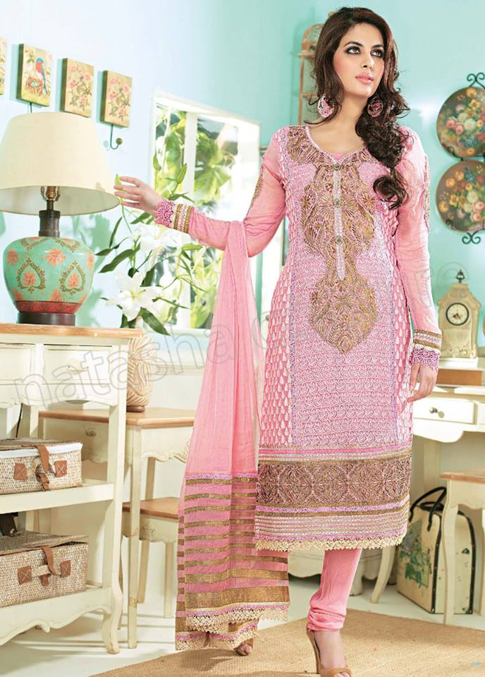 Pakistani & Indian Straight Cut Salwar Suits Designs Latest Collection 2015-2016 (22)