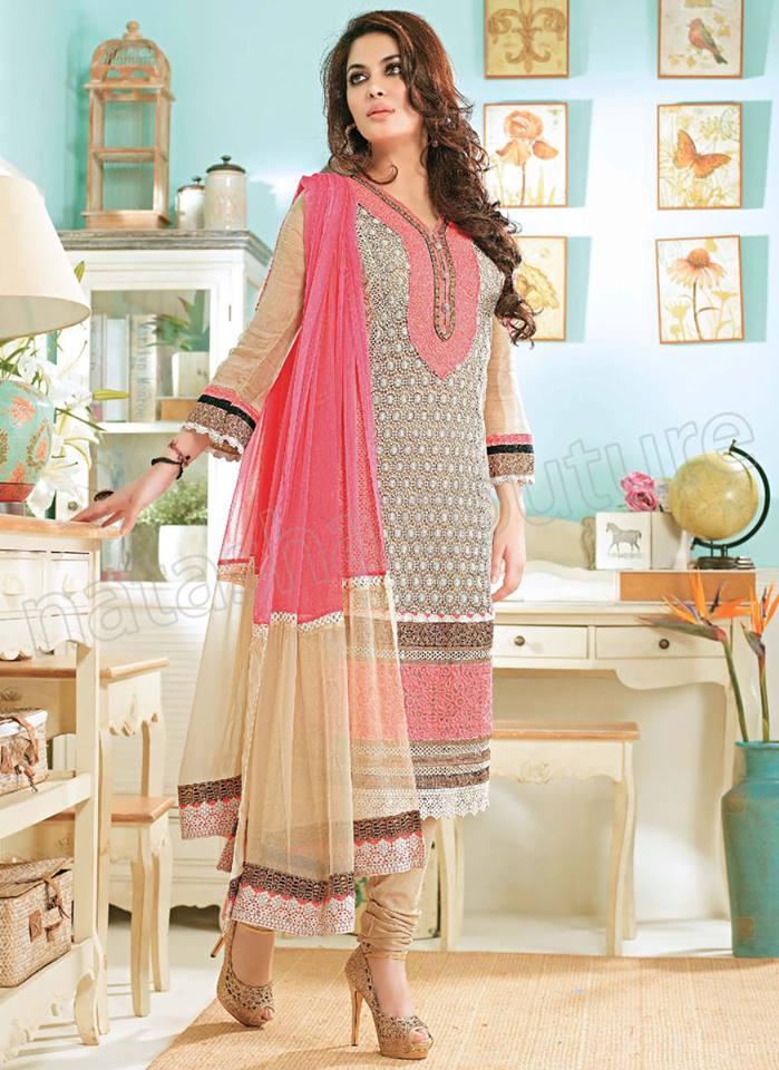 Pakistani & Indian Straight Cut Salwar Suits Designs Latest Collection 2015-2016 (25)