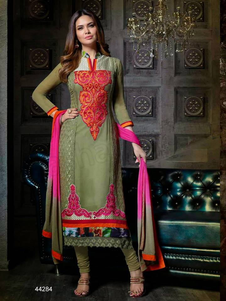 Pakistani & Indian Straight Cut Salwar Suits Designs Latest Collection 2015-2016 (3)