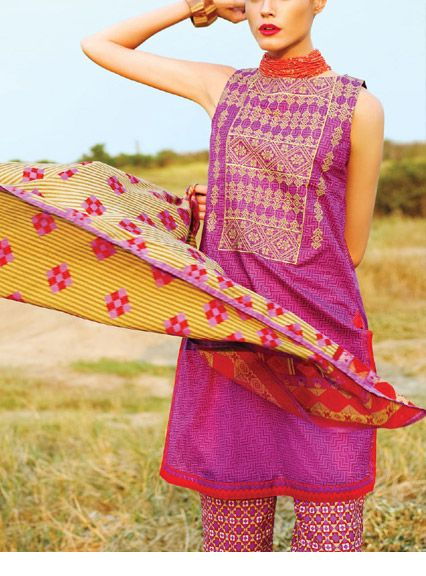 Summer lawn kurti trends collection 2015-2016 (1)