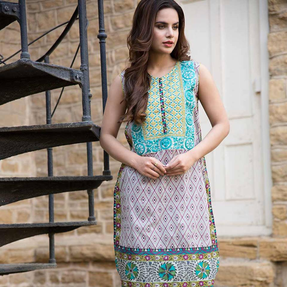 Summer lawn kurti trends collection 2015-2016 (13)