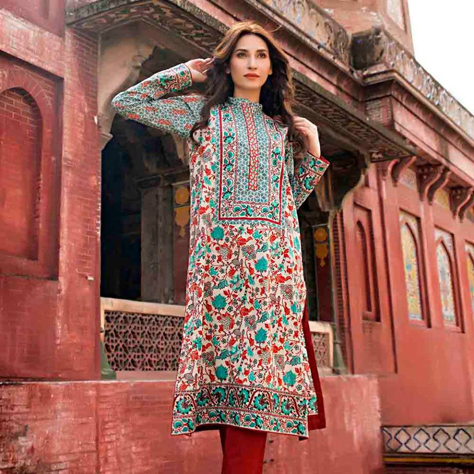 Summer lawn kurti trends collection 2015-2016 (15)