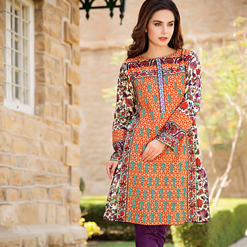 Summer lawn kurti trends collection 2015-2016 (16)