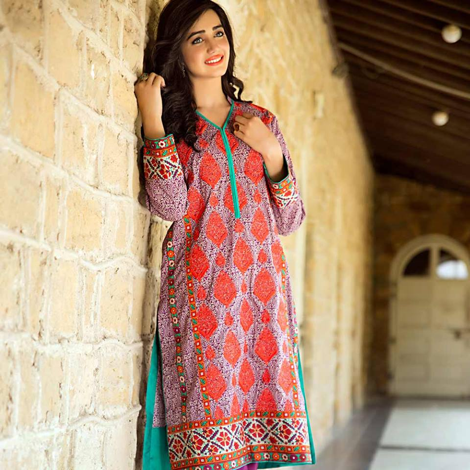 Summer lawn kurti trends collection 2015-2016 (18)