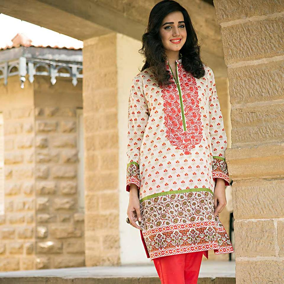 Summer lawn kurti trends collection 2015-2016 (20)