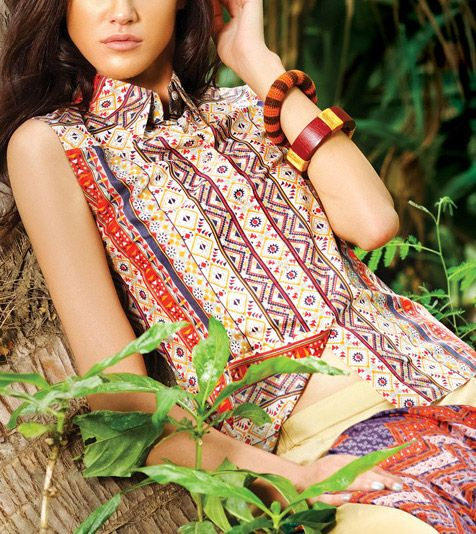 Summer lawn kurti trends collection 2015-2016 (6)