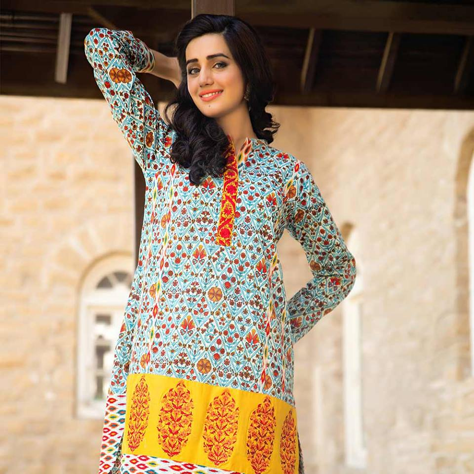 Summer lawn kurti trends collection 2015-2016 (9)