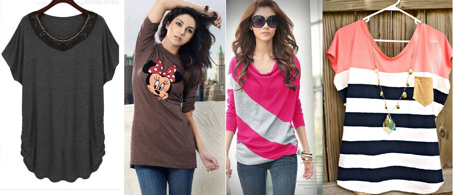 Ladies Stylish Summer T Shirts Collection 2015 2016