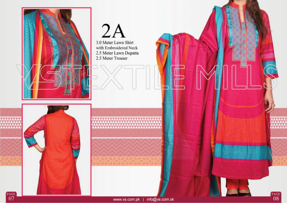 VS Textile Mills Vadiwala Classic Lawn Embroidered Chiffon Collection 2015-2016 (11)