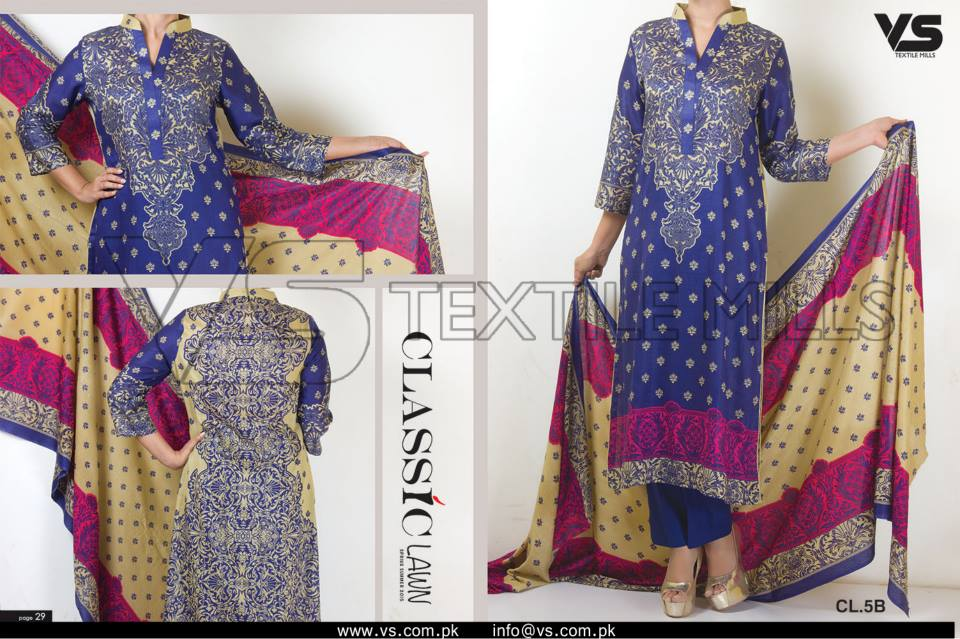 VS Textile Mills Vadiwala Classic Lawn Embroidered Chiffon Collection 2015-2016 (12)