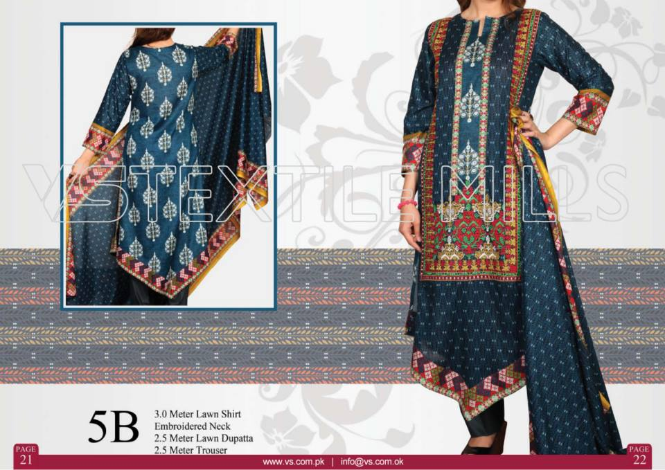 VS Textile Mills Vadiwala Classic Lawn Embroidered Chiffon Collection 2015-2016 (14)