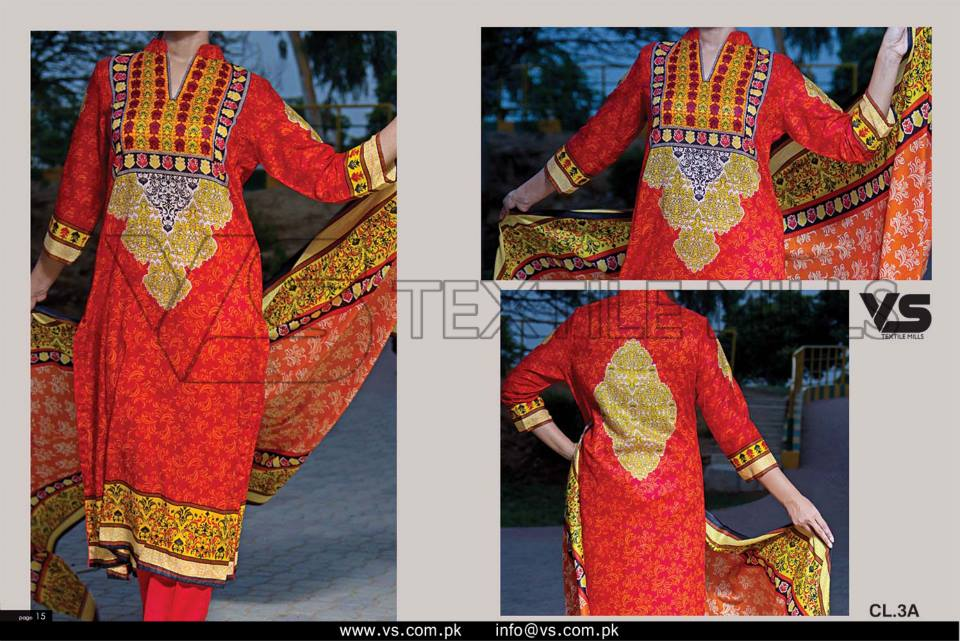 VS Textile Mills Vadiwala Classic Lawn Embroidered Chiffon Collection 2015-2016 (15)