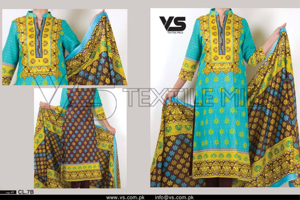 VS Textile Mills Vadiwala Classic Lawn Embroidered Chiffon Collection 2015-2016 (17)