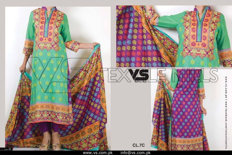 VS Textile Mills Vadiwala Classic Lawn Embroidered Chiffon Collection 2015-2016 (18)