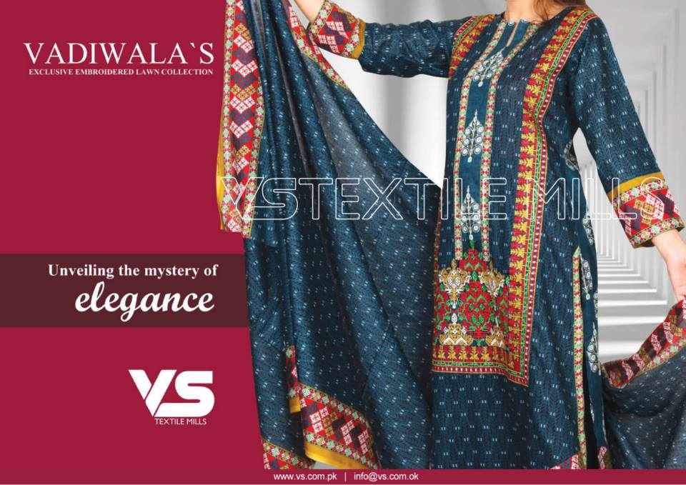 VS Textile Mills Vadiwala Classic Lawn Embroidered Chiffon Collection 2015-2016 (20)