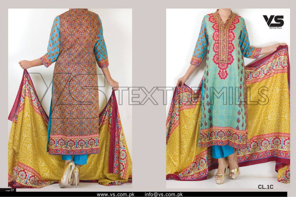 VS Textile Mills Vadiwala Classic Lawn Embroidered Chiffon Collection 2015-2016 (22)