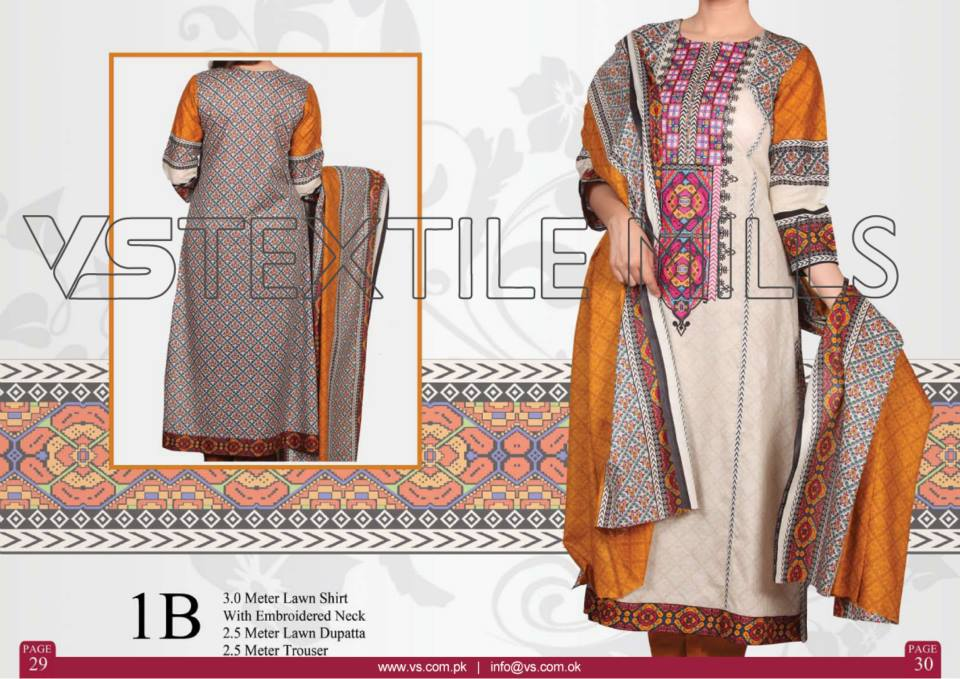 VS Textile Mills Vadiwala Classic Lawn Embroidered Chiffon Collection 2015-2016 (23)