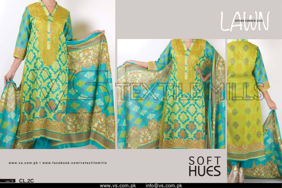VS Textile Mills Vadiwala Classic Lawn Embroidered Chiffon Collection 2015-2016 (24)