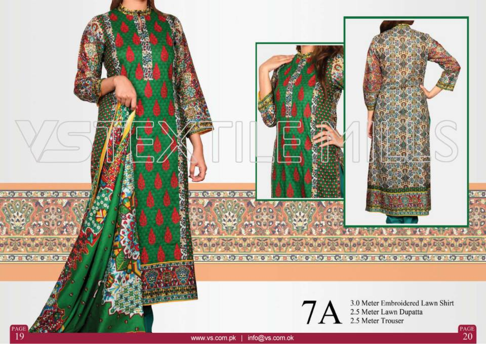 VS Textile Mills Vadiwala Classic Lawn Embroidered Chiffon Collection 2015-2016 (26)
