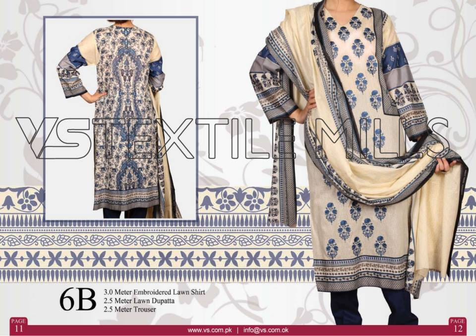VS Textile Mills Vadiwala Classic Lawn Embroidered Chiffon Collection 2015-2016 (28)