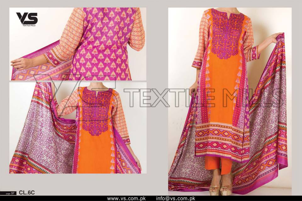 VS Textile Mills Vadiwala Classic Lawn Embroidered Chiffon Collection 2015-2016 (37)