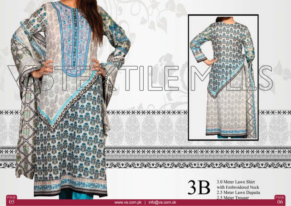 VS Textile Mills Vadiwala Classic Lawn Embroidered Chiffon Collection 2015-2016 (4)