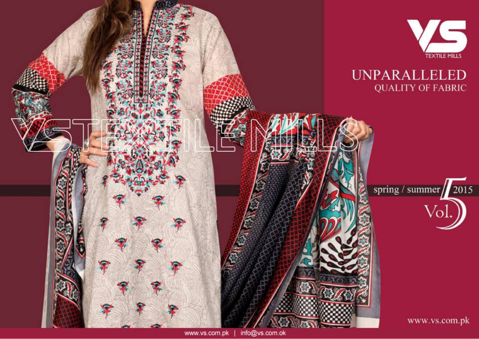 VS Textile Mills Vadiwala Classic Lawn Embroidered Chiffon Collection 2015-2016 (9)