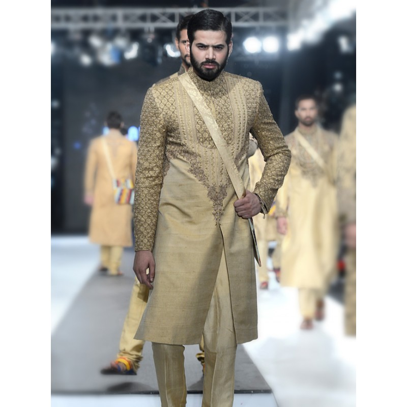 HSY Men Wedding Dresses Sherwani Designs Collection 2015-2016 (10)