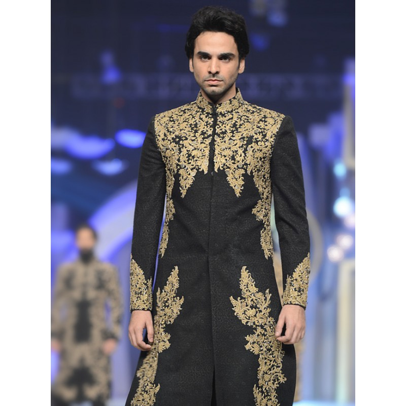 HSY Men Wedding Dresses Sherwani Designs Collection 2015-2016 (14)
