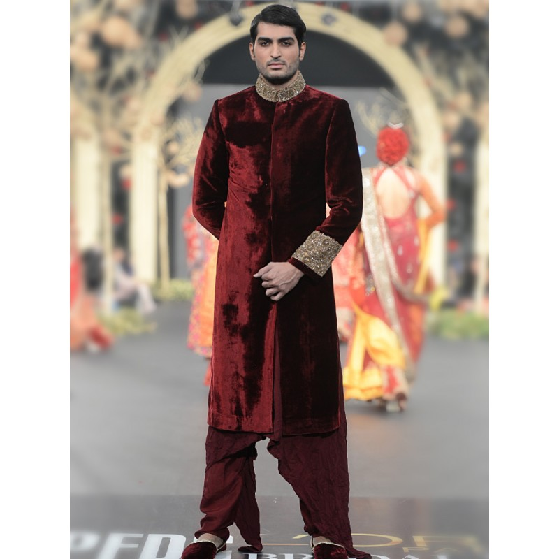 HSY Men Wedding Dresses Sherwani Designs Collection 2015-2016 (17)