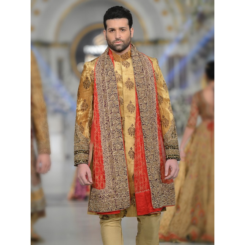 HSY Men Wedding Dresses Sherwani Designs Collection 2015-2016 (4)