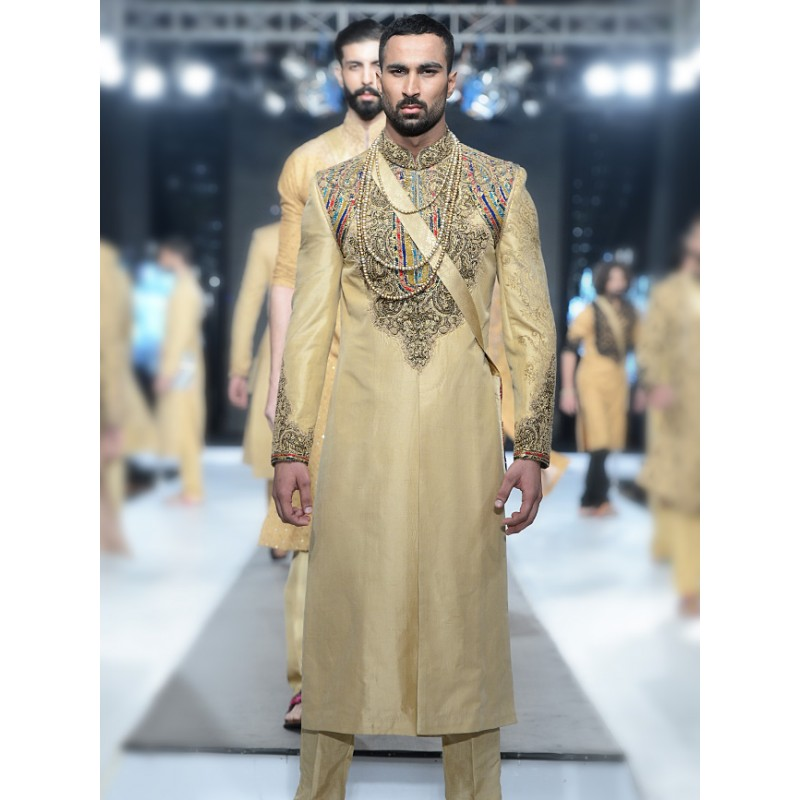 HSY Men Wedding Dresses Sherwani Designs Collection 2015-2016 (5)