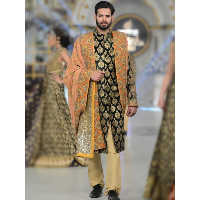 HSY Men Wedding Dresses Sherwani Designs Collection 2015-2016 (8)