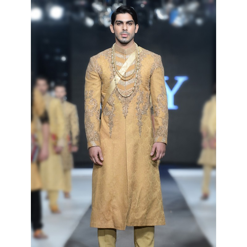 HSY Men Wedding Dresses Sherwani Designs Collection 2015-2016 (9)