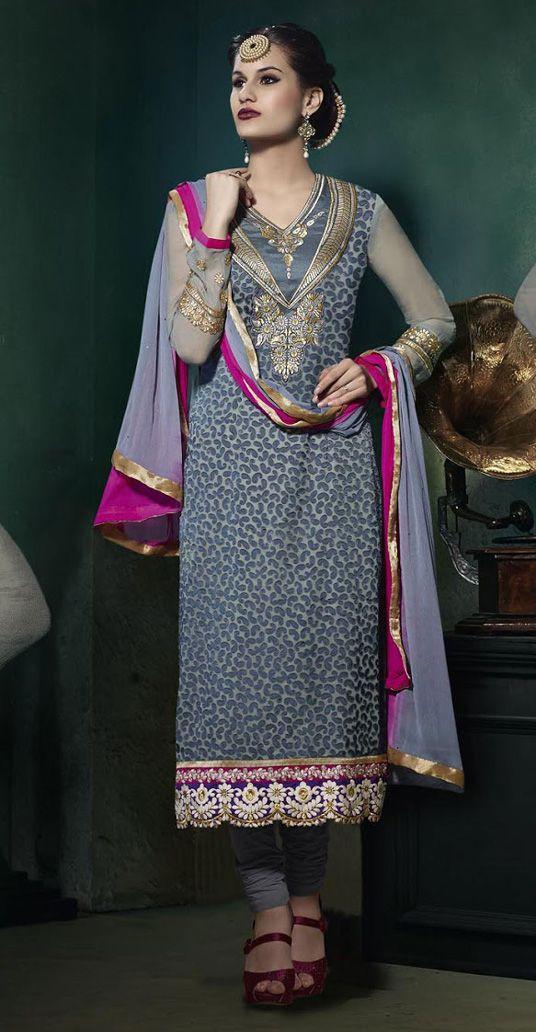 Latest Indian Designer Churidar Suits Salwar Kameez Collection 2015-2016 (13)