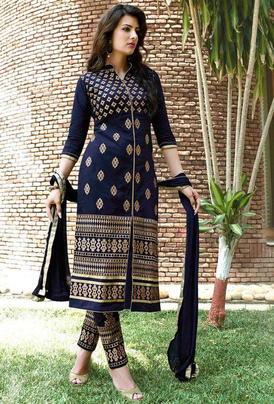 Latest Indian Designer Churidar Suits Salwar Kameez Collection 2015-2016 (17)
