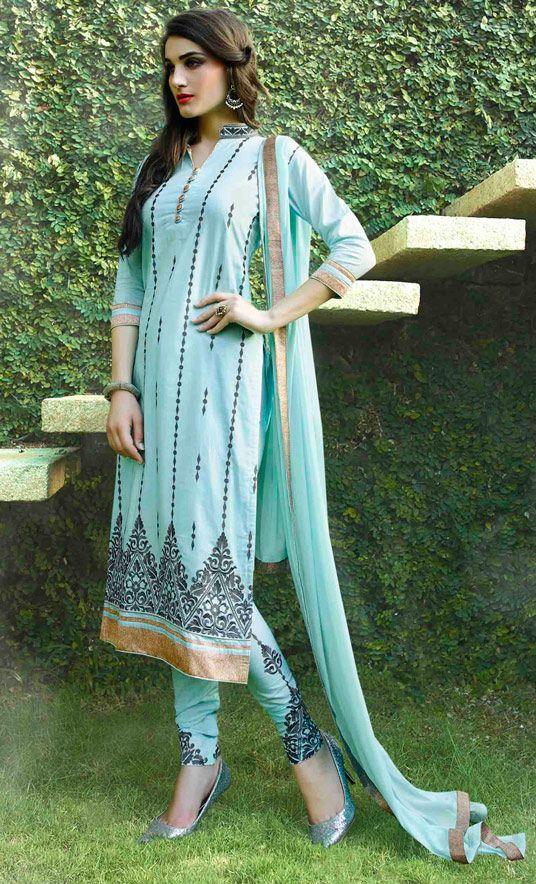 Latest Indian Designer Churidar Suits Salwar Kameez Collection 2015-2016 (18)