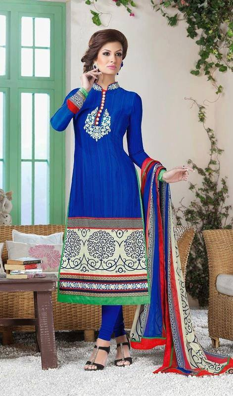Latest Indian Designer Churidar Suits Salwar Kameez Collection 2015-2016 (20)