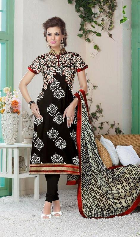 Latest Indian Designer Churidar Suits Salwar Kameez Collection 2015-2016 (23)