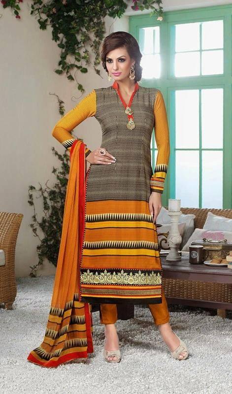 Latest Indian Designer Churidar Suits Salwar Kameez Collection 2015-2016 (25)