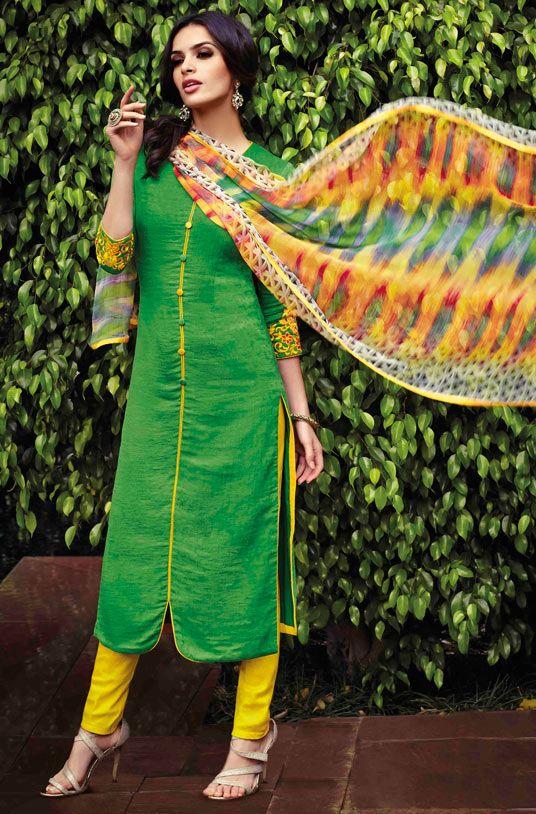 Latest Indian Designer Churidar Suits Salwar Kameez Collection 2015-2016 (3)