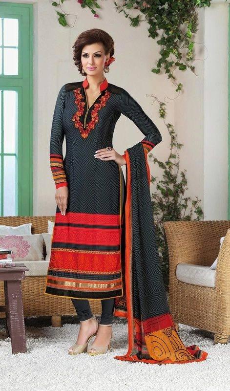 Latest Indian Designer Churidar Suits Salwar Kameez Collection 2015-2016 (33)