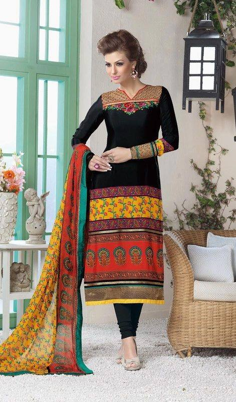 Latest Indian Designer Churidar Suits Salwar Kameez Collection 2015-2016 (34)