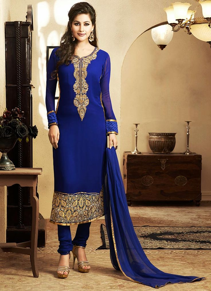 Latest Indian Designer Churidar Suits Salwar Kameez Collection 2015-2016 (35)