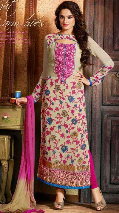 Latest Indian Designer Churidar Suits Salwar Kameez Collection 2015-2016 (4)